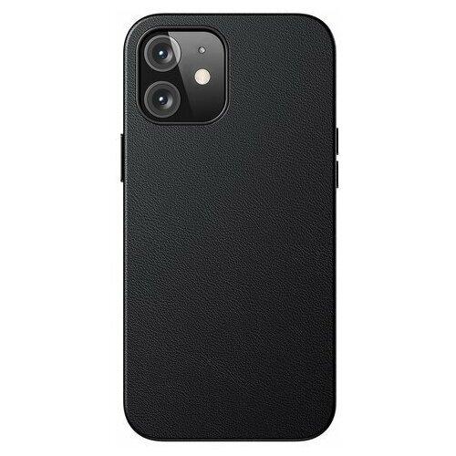 "Чехол кожаный Baseus Original Magnetic Leather Case для iPhone 12 mini 5.4"" 2020 Черный LTAPIPH54N-YP01"