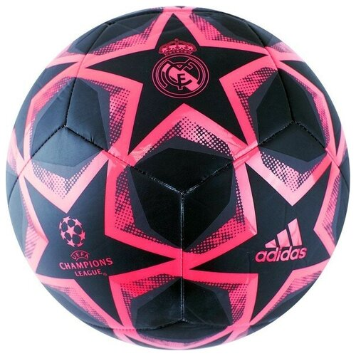 мяч футбольный adidas conext19 tcpt dn8636 белый желтый оранжевый размер 5 Мяч футбольный Adidas Finale 20 Real Madrid Club арт.FS0269 р.5