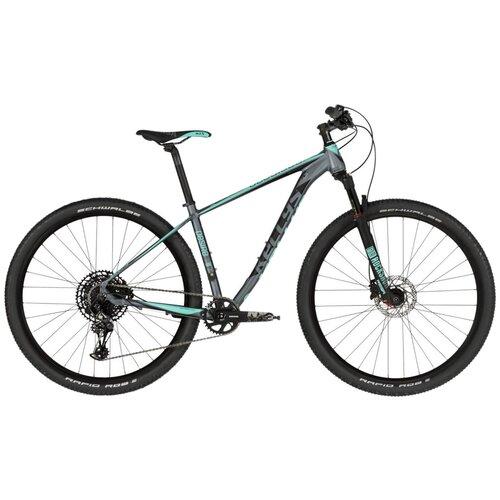 Горный (MTB) велосипед KELLYS Desire 90 (2019) grey/green M (требует финальной сборки) горный mtb велосипед kellys desire 90 2019 grey green m требует финальной сборки