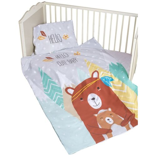 Amarobaby комплект в кроватку Exclusive Creative Hello Cute Baby (3 предмета) hello cute baby постельное белье amarobaby exclusive creative collection triangles 3 предмета