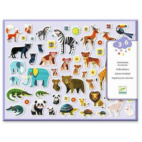 DJECO Набор наклеек Мамы и детки (09081) детские наклейки djeco набор объемных наклеек мамы и детки