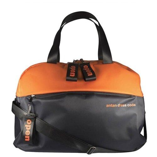 Сумка фитнес 2-168 сатин оранж/черн 00068188