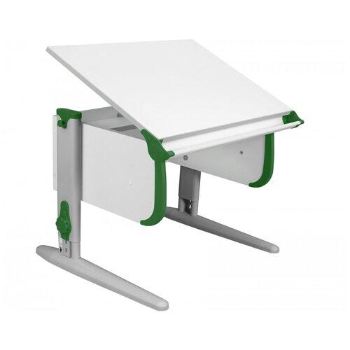 Фото - Стол детский ДЭМИ СУТ-24 75x55 см белый/зеленый/серый стол дэми white double сут 25 01д 120x82 см клен зеленый бежевый