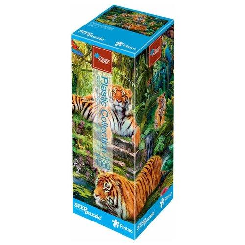 Пазл Step puzzle Plastic Collection Тигры (98040), 1000 дет. пазл step puzzle plastic collection дракон и фея 98019 500 дет
