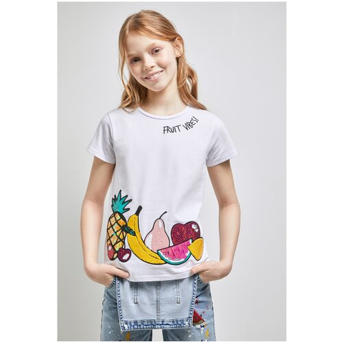 Фото - Футболка для девочек размер 158, белый, ТМ Acoola, арт. 20210110306 футболка acoola размер 158 белый