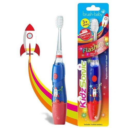 Brush-Baby KidzSonic звуковая зубная щетка Ракета от 3 лет brush baby kidzsonic звуковая зубная щетка ракета от 3 лет