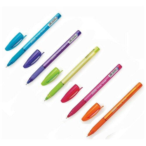 Ручка шариковая Attache Glide TrioGrip 0, 5мм син, масл, треуг, неавт, цв. 8 штук, Ручки  - купить со скидкой