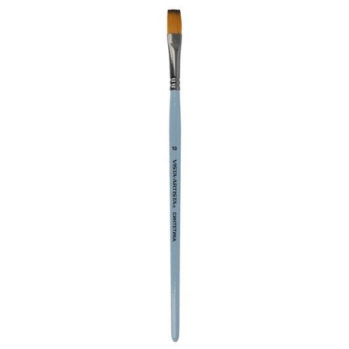 Купить Кисть Vista-Artista синтетика, плоская, 5 шт, короткая ручка, №10 (50232-10), Кисти