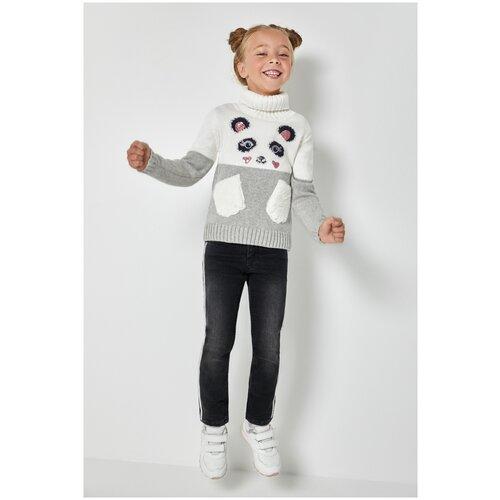 Джинсовые брюки утепленные для девочек размер 116, черный, ТМ Acoola, арт. 20220160319, Джинсы  - купить со скидкой