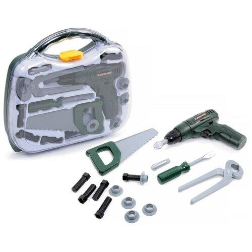Набор Инструменты BeBoy в комплекте (шуруповерт на бат., 14 предметов, в чемоданчике 29x7x26 см)