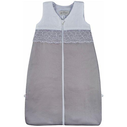спальные конверты chepe нежность Спальный мешок Chepe for Nuovita Tenerezza / Нежность 1 предмет Бело-серый