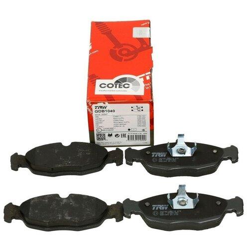 Дисковые тормозные колодки передние TRW GDB1040 для Chevrolet, Daewoo, Opel, ЗАЗ (4 шт.)