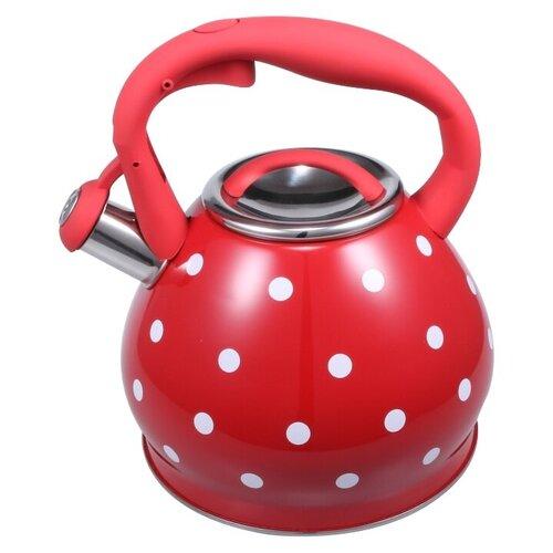 Bekker Чайник со свистком BK-S622 3 л, красный