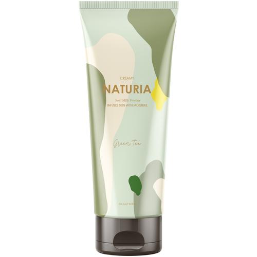 Naturia Скраб для тела Creamy Oil Salt Scrub Green Tea Зеленый чай, 250 г