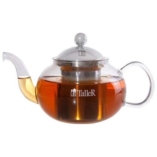 Taller Заварочный чайник Винсент TR-1347 800 мл, прозрачный 1360 tr чайник заварочный taller 600 мл