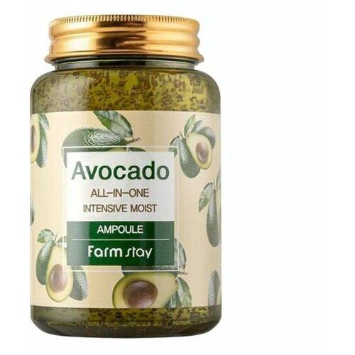 Многофункциональная ампульная сыворотка с экстрактом авокадо FarmStay Avocado ALL-IN-ONE INTENSIVE MOIST AMPOULE, 250 мл недорого