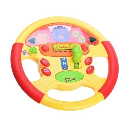 Интерактивная развивающая игрушка Play Smart Штурвал, желтый/красный