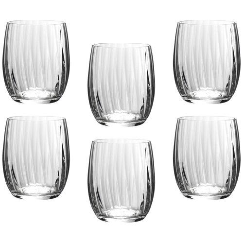 Набор стаканов для виски, 6 шт. Bohemia Crystal 674-103 Waterfal 300 мл