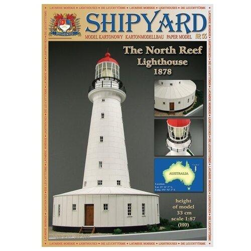 Фото - Сборная картонная модель Shipyard маяк North Reef Lighthouse (№55), 1/87 сборная картонная модель shipyard маяк pellworm lighthouse 61 1 87