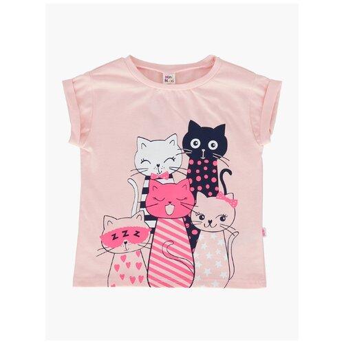 Фото - Футболка Mini Maxi 3928, цвет кремовый/розовый, размер 116 рубашка fendi размер 116 кремовый