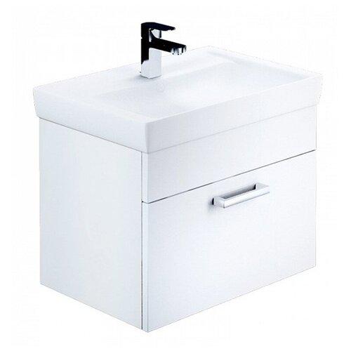 Фото - Тумба для ванной комнаты с раковиной IDDIS Mirro 60/80, ШхГхВ: 58.2х43.8х55.5 см, цвет: белый тумба для ванной комнаты с раковиной am pm like напольная шхгхв 80х45х85 см цвет белый глянец