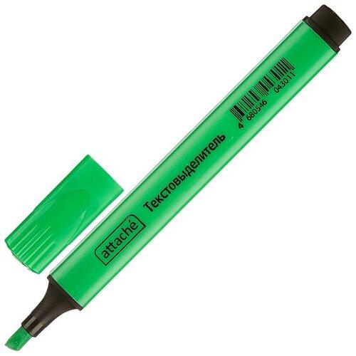 Фото - Маркер текстовыделитель ATTACHE зеленый 1-4 мм треугольный 8 штук ластик треугольный зеленый