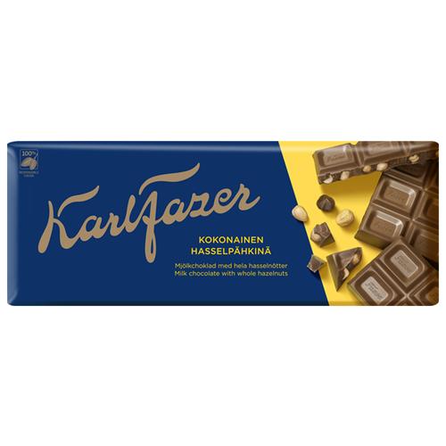 Фото - Шоколад Fazer молочный с цельным фундуком 30% какао, 200 г шоколад dove 90г молочный с цельным фундуком одинцовская кф