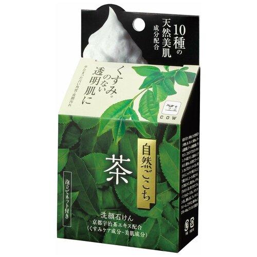 Купить Cow Brand мыло для лица с экстрактом зеленого чая Ochya (с мочалкой), 80 г
