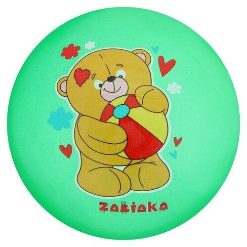 Купить Мяч детский «Мишка с мячом», d=22 см, 70 г, микс, Zabiaka, Мячи и прыгуны