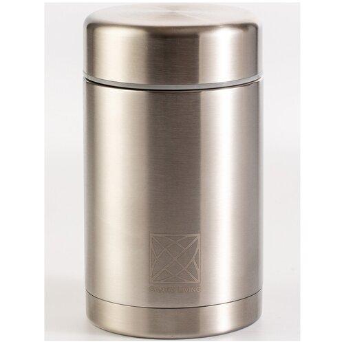 """Термос - контейнер для еды """"Cube"""" (500 мл) серебристый"""