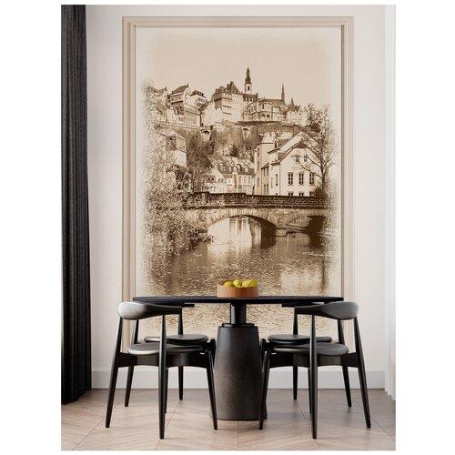 Фотообои Люксембург / Красивые стильные обои на стену в интерьер комнаты/ 3Д расширяющие пространство/ На кухню в спальню детскую зал гостиную прихожую/ размер 200х129см/ Флизелиновые