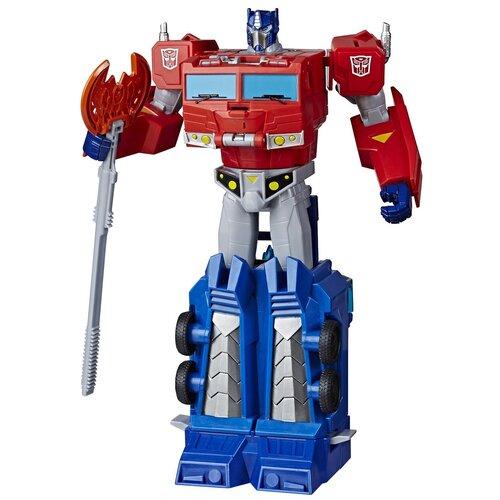Купить Трансформер Transformers Кибервселенная Оптимус Прайм E7112, синий/красный, Роботы и трансформеры