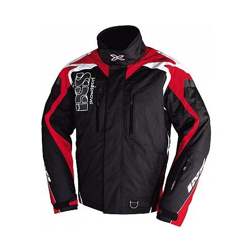 Текстильная куртка IXS Kobuk черный/красный 3XL (Размер производителя)