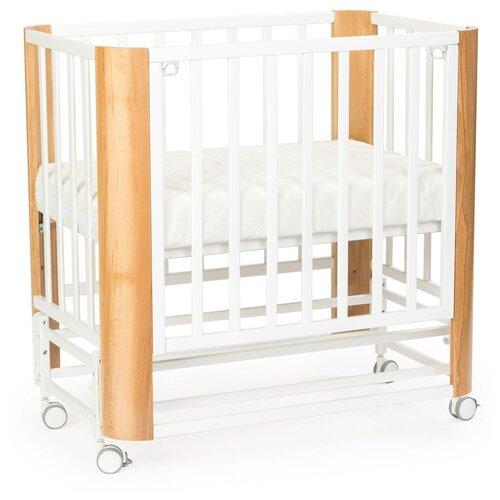Кровать приставная Mr Sandman SANDEE Белый/Натуральный кровать приставная mr sandman sandee ваниль