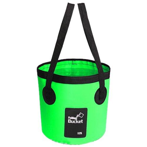 Водонепроницаемая складная сумка-ведро Nuobi Folding Bucket (для дачи, похода, туризма) (Зеленый (12л))