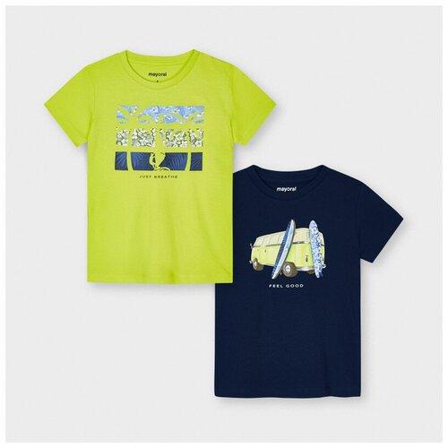 Футболка Mayoral, комплект из 2 шт., размер 6(116), 072 rain футболка mayoral размер 6 116 голубой