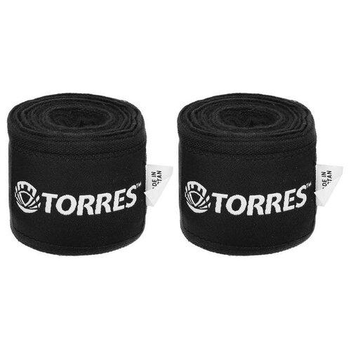 Бинт боксерский эластичный TORRES, длина 3,5 м, ширина 5,5 см, 1 пара, цвет чёрный