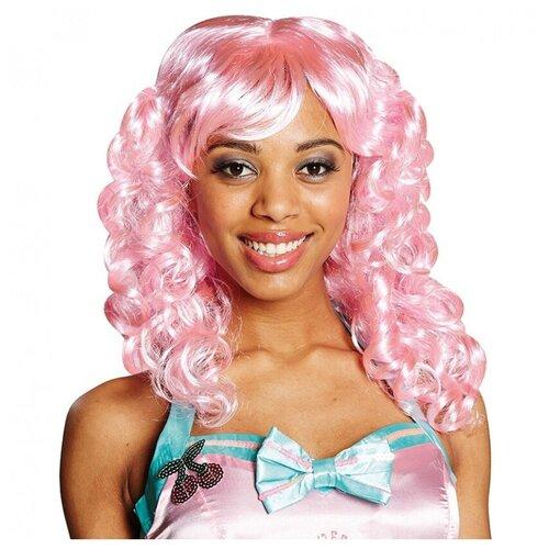 Купить Розовый кудрявый парик (11431), RUBIE'S