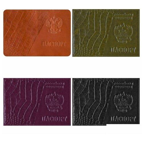 Обложка для паспорта OfficeSpace, натуральная кожа тип 3, тиснение