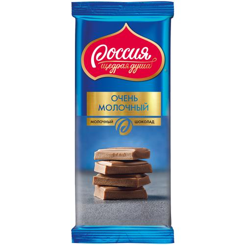 шоколад россия щедрая душа молочный пористый 82 г Шоколад Россия - Щедрая душа! Очень молочный, 90 г