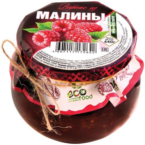 Варенье Ecofood из малины, банка, 440 г