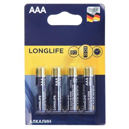 Фото - Батарейка AAA - Varta Longlife 4103 LR03 (4 штуки) VR LR03/4BL LL батарейка energizer max aaa lr03 алкалиновая 4bl