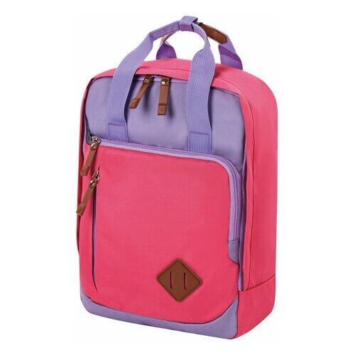 Фото - Рюкзак BRAUBERG FRIENDLY молодежный, розово-сиреневый, 37х26х13 см, 270092 рюкзак brauberg friendly молодежный горчично фиолетовый 37х26х13 см 270093