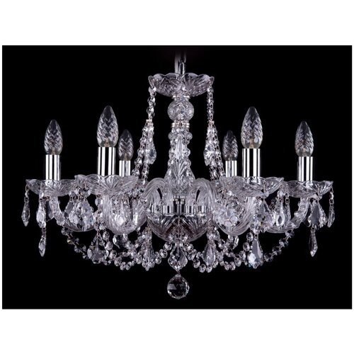 Люстра Bohemia Ivele Crystal 1406 1406/6/195/Ni/Leafs, E14, 240 Вт люстра bohemia ivele crystal 1406 1406 8 160 ni leafs e14 320 вт
