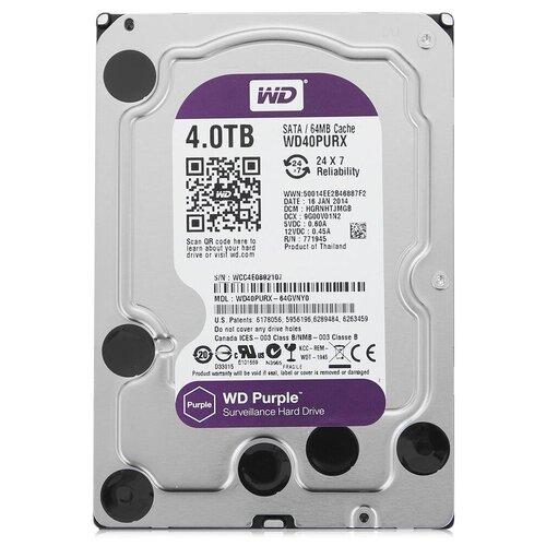 Жесткий диск Western Digital WD Purple 4 TB WD40PURX
