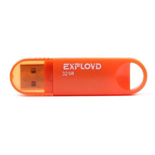 Фото - Флешка EXPLOYD 570 32 GB, orange флешка exployd 570 64 gb black