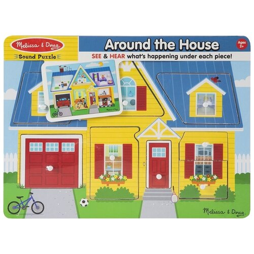 Купить Рамка-вкладыш Melissa & Doug Мой дом (734), 8 дет., Пазлы