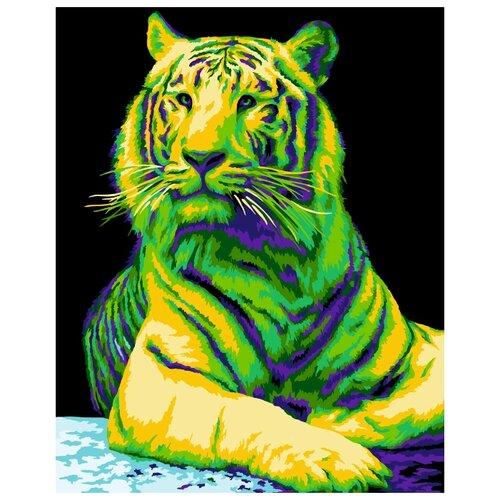 Купить H139 Набор для рисования по номерам 'Неоновый тигр' 40*50см, Русская Живопись, Картины по номерам и контурам