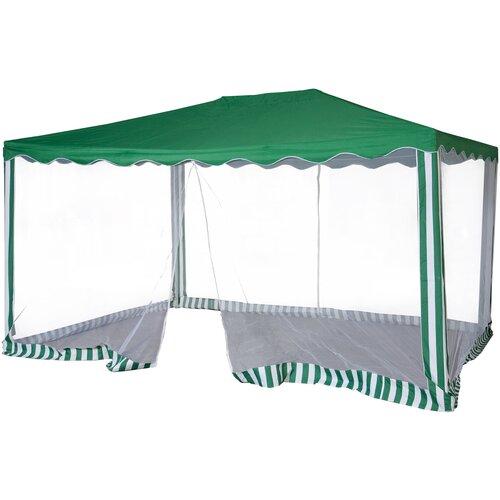 Шатер Green Glade 1088, со стенками и москитной сеткой, 3 х 4 х 2.5 м зеленый / белый шатер green glade 3018 со стенками 8 х 5 х 3 1 м белый