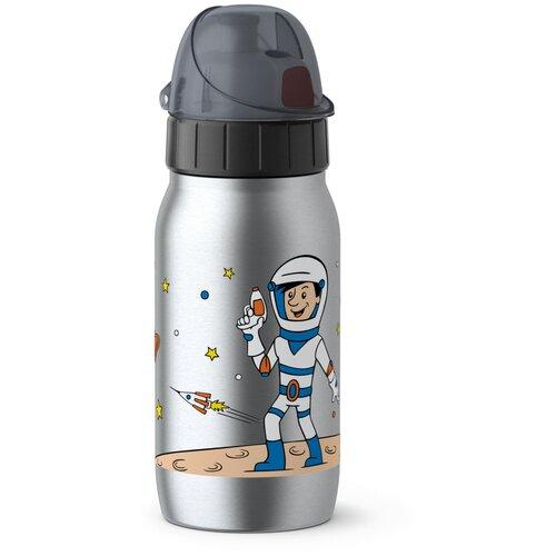 Термос-фляга EMSA ISO2GO Астронавт, 0.35 л серебристый